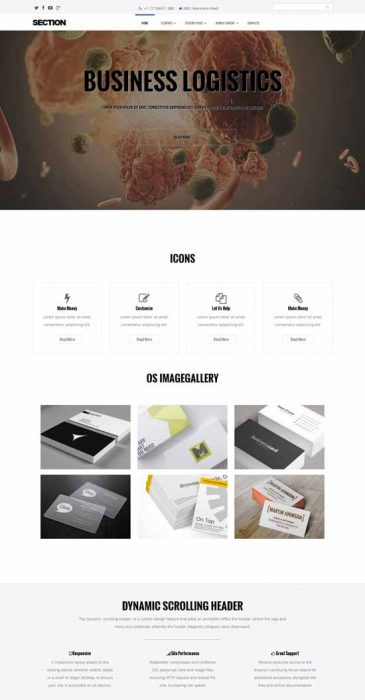 Section free multipurpose Joomla template