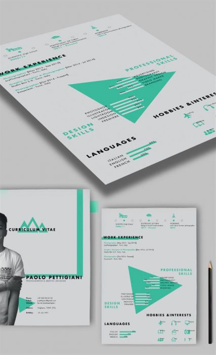 Self Promotion Free CV  Resume PSD Template (Custom)