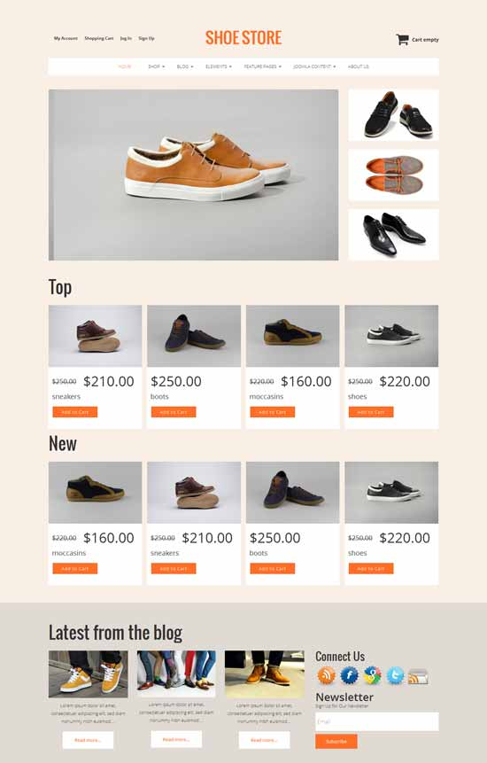 Shoe Store - Free VirtueMart 3 template
