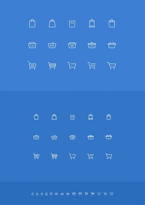 Shopping Cart Icons For Website (Custom)