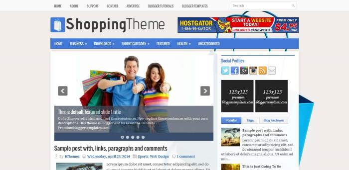 ShoppingTheme Blogger Template