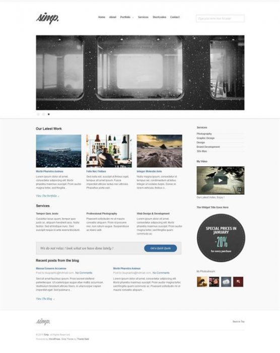 Simp – Free Agency WordPress Theme (Custom)
