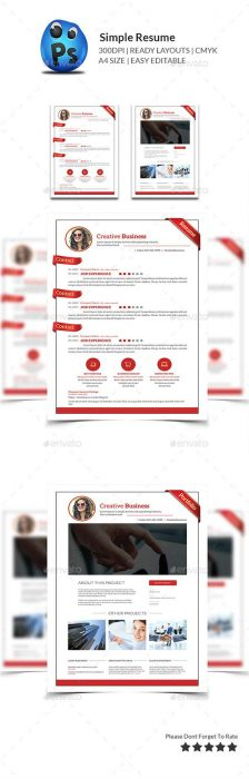 Simple Resume Print Templates (Custom)