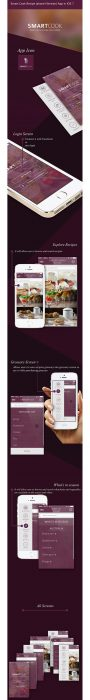 Smart Cook Recipe iphone (Version) App in iOS 7 (Custom)