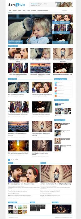 Sora Style Blogger Template (Custom)