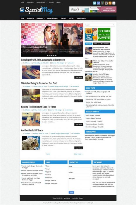 SpecialMag Blogger Template (Custom)