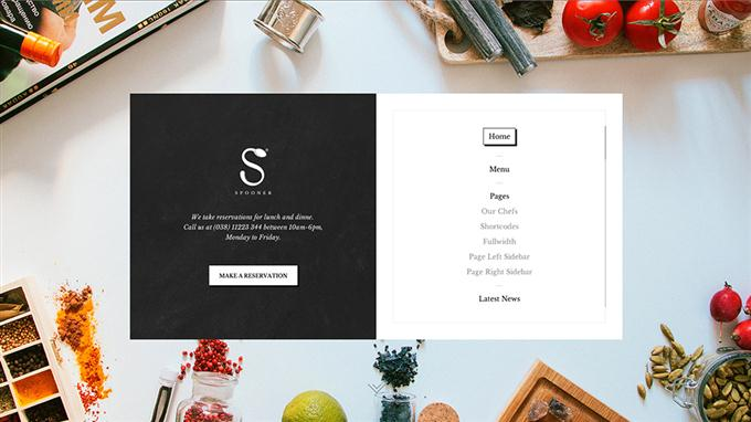 Spooner Restaurant WordPress theme (Custom)