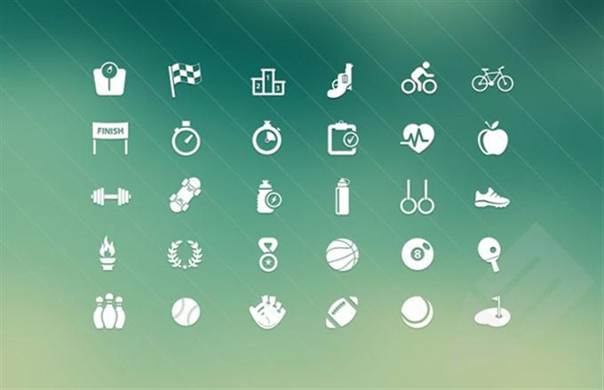 Sport & Fitness Vector Icons (Custom)