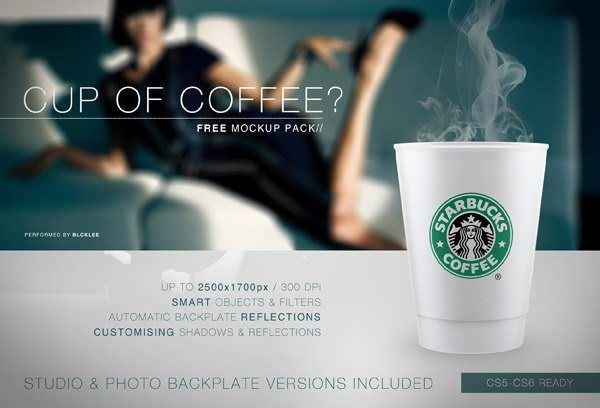 Starbucks Style Coffee Cup PSD Mockup (Custom)