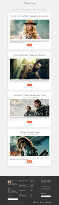 SuevaFree Blogger Template (Custom)
