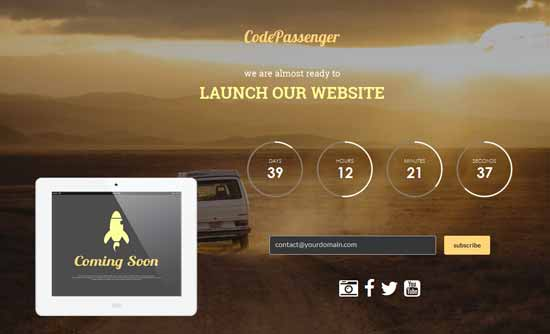 Sunrise – Responsive HTML5 Coming Soon Template