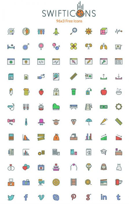 SwiftIcons – 96×3 Free Icons (Custom)