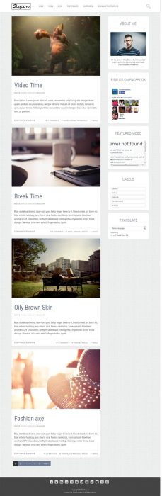 Sycon Personal Blog Blogger Template (Custom)