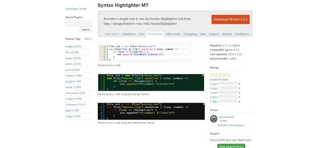 Syntax Highlighter MT (Custom)