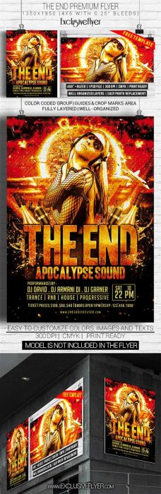 The End – Free Club and Party Flyer PSD Template (Custom)