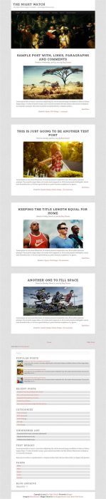 The Night Watch Responsive Personal Blog Blogger Template (Custom)