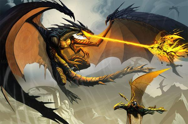 The black dragon attack PRINT by el-grimlock (Custom)