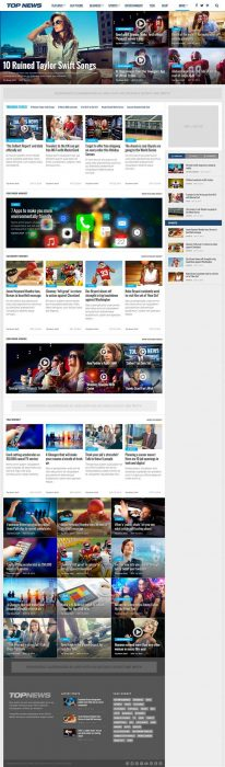 Top News - WordPress News & Magazine Theme (Custom)