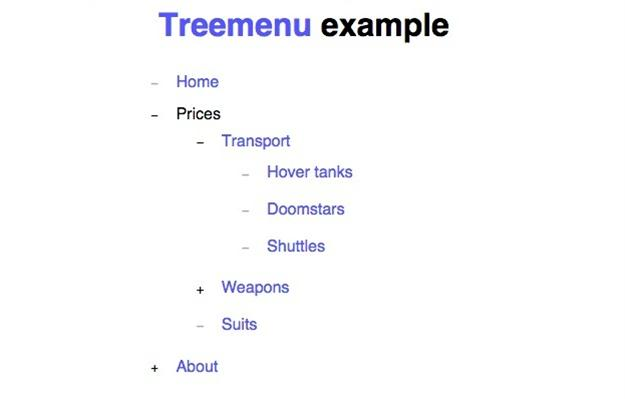 Tree Menu js (Custom)