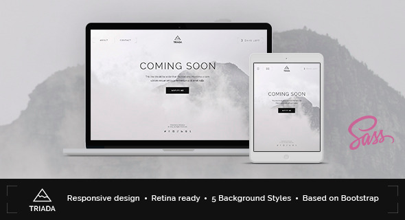 Free html5 coming soon template