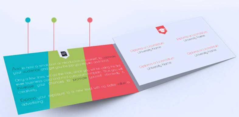 Trifold Business Card with Mini Curriculum Combo - v2