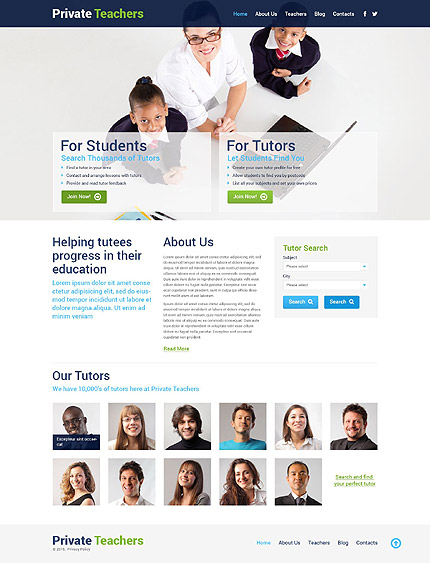Tutoring Responsive WordPress Template