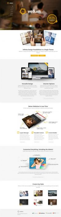 Vellum - Responsive WordPress Theme (Custom)