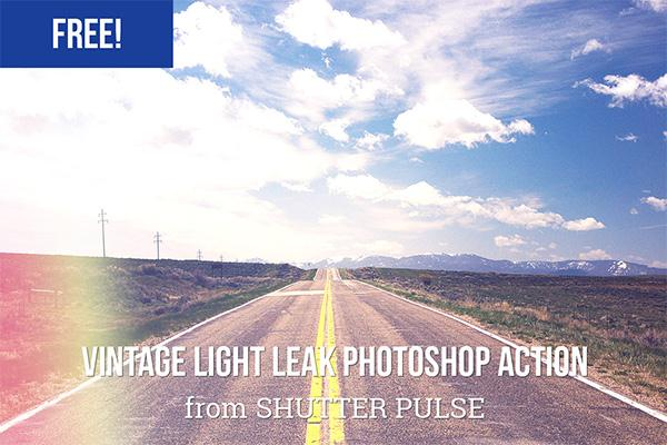 Vintage Light Leak Photoshop Action (Custom)