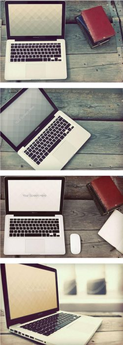 Vintage Macbook mockups  (Custom)