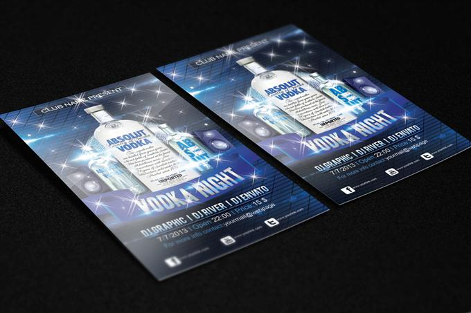 Vodka Night Flyer FREE PSD Template (Custom)