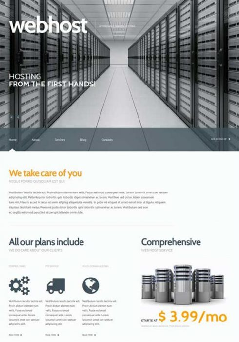 WEBHOST Hosting Responsive WordPress Theme (Custom)