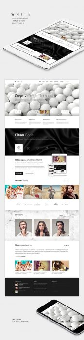 WHITE One-Page HTML Theme (Custom)