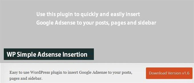 WP Simple Adsense Insertion (Custom)
