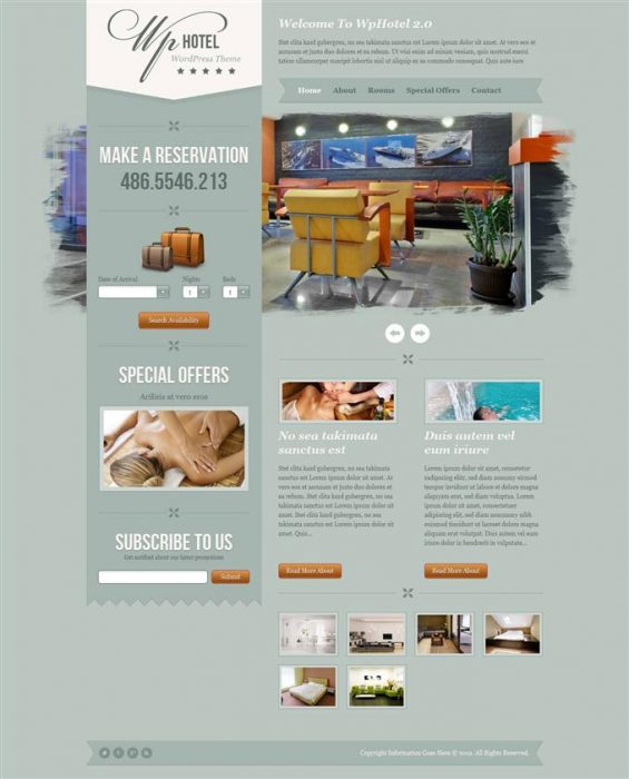 WP hotel WordPress theme (Custom)