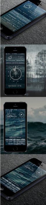 Weather,Sea Status & ios7 compass (Custom)