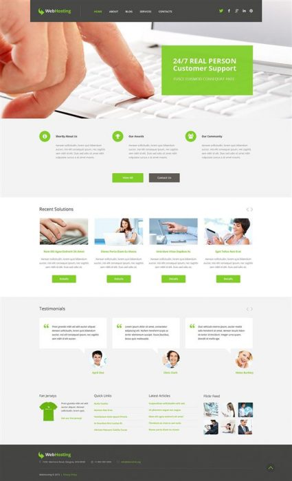 WebHosting WordPress Theme (Custom)