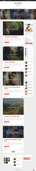 Wilder Photography Blogger Template (Custom)
