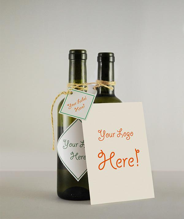 Wine Bottle & Greeting Card MockUp (Custom)