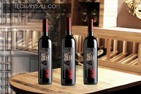 Wine Bottle Mockup (Custom)