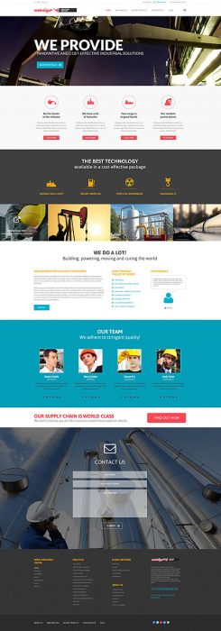 WordPress Theme fot Industrial Company