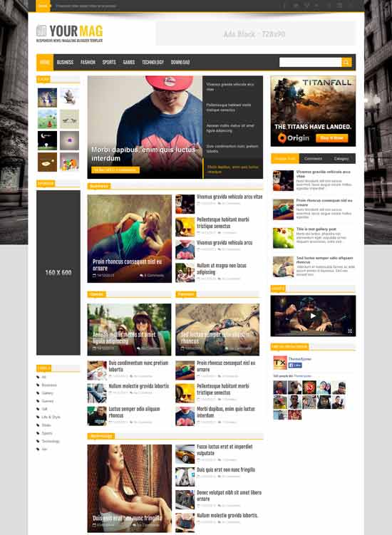 YourMag Responsive Blogger Template