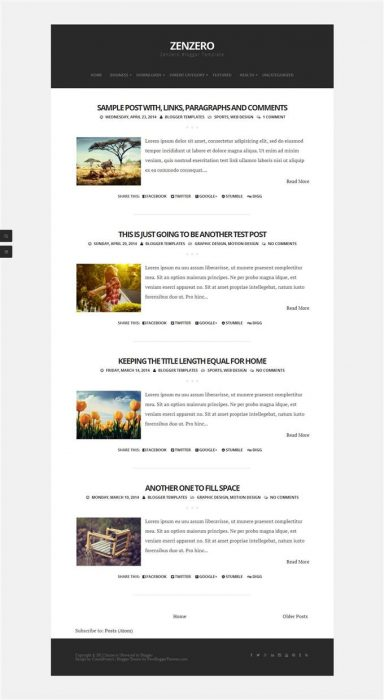 Zenzero Blogger Template (Custom)