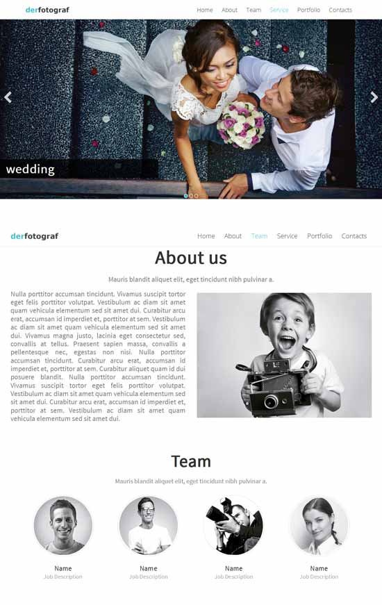 derfotograf-One Page Template