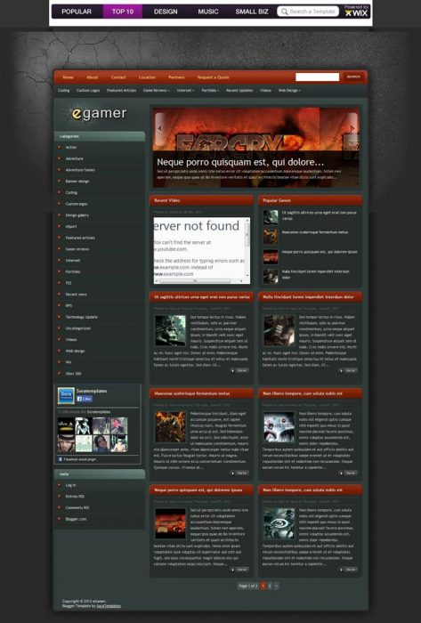 eGamer Blogger Template (Custom)