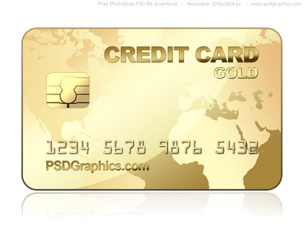gold credit card template (Custom)