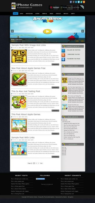 iPhone Games Blogger Template (Custom)