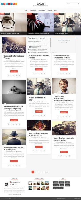 iPlus photography Blogger Template (Custom)